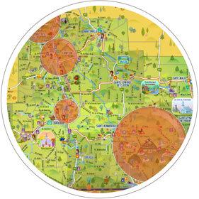 Carte touristique Coaticook