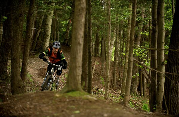 David Lauzon on the trails in Coaticook